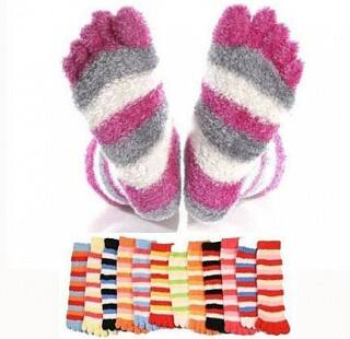 3-Pack Super Comfy Fuzzy Toe Socks $3.50 + Free Shipping $3.49