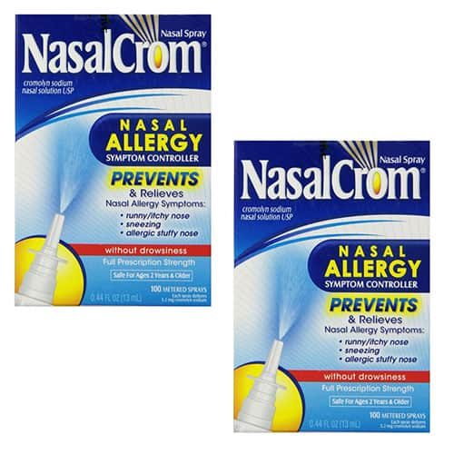 2-Pack NasalCrom Nasal Allergy Symptom Controller (200-Spray Total) $5.99 + Free Shipping