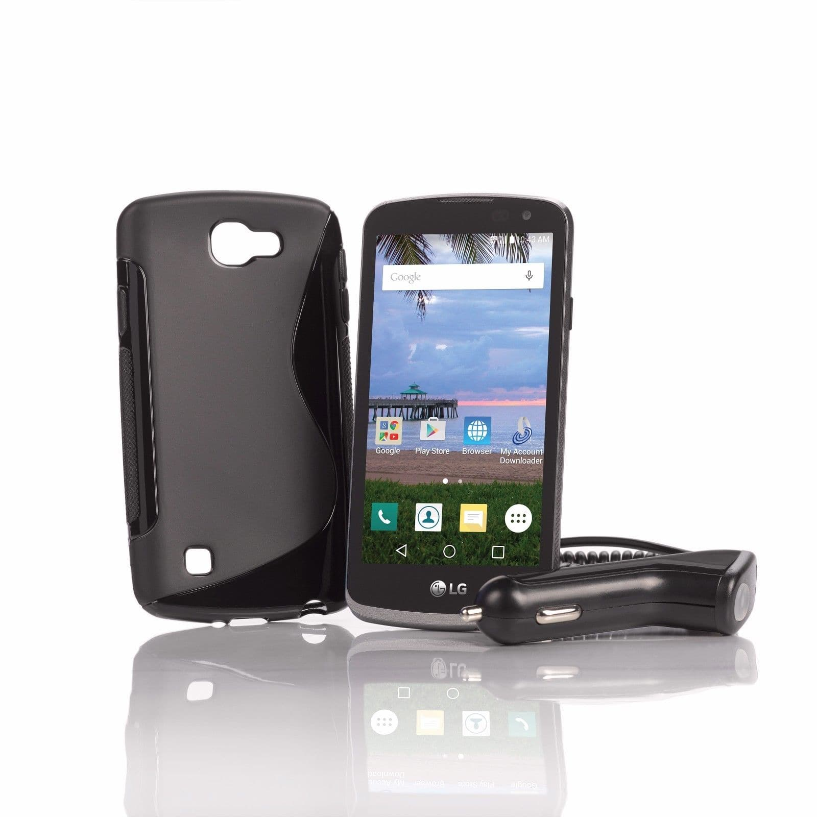TracFone LG Rebel Phone + 1 Yr  Service w/ 1200 Talk/Text/Data