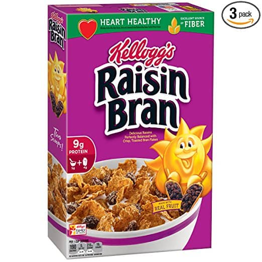 3-Pack of 18.7oz Kellogg's Raisin Bran $4.50 or Less w/ S&S + Free Shipping