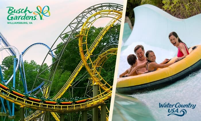 3-Day Admission to Busch Gardens Williamsburg & Water Country USA ...