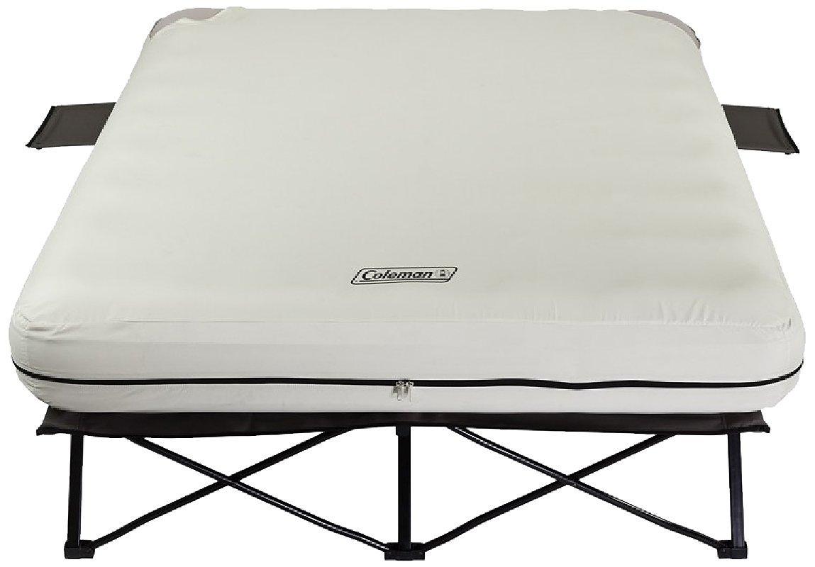 coleman air mattress cot Coleman Queen Airbed Folding Cot w/ Side Tables & Battery Pump  coleman air mattress cot