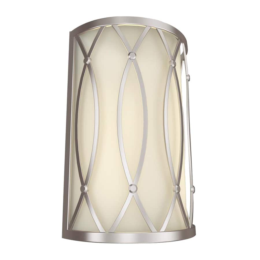 Lighting Clearance Allen Roth Light Brushed Nickel Pocket Wall - Polished nickel bathroom wall sconces