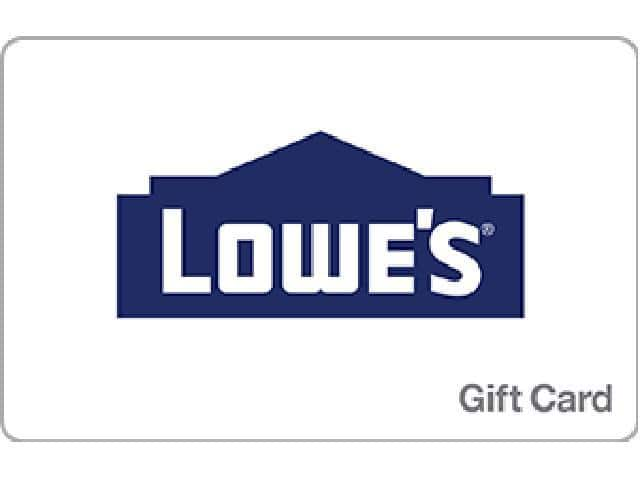 $100 Lowe's Gift Card (Digital Delivery) $90
