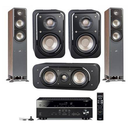 Polk Signature Speakers: 2x S50 + S30 + S10 + Yamaha RX-V485