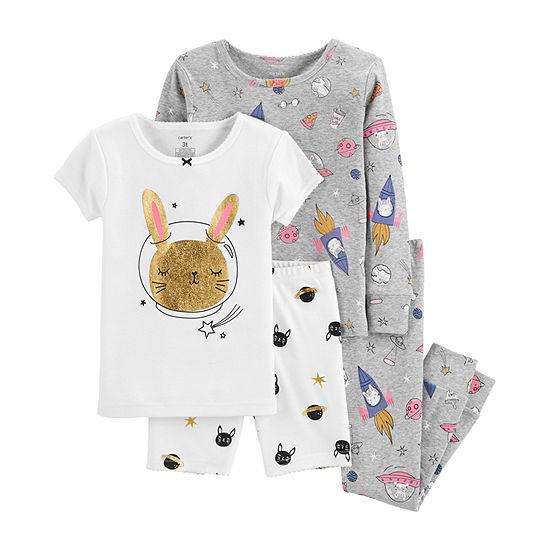 b20cbf405 Carter s Pajama Sets  Baby Girls  or Toddler Boys    Girls  4-Piece ...