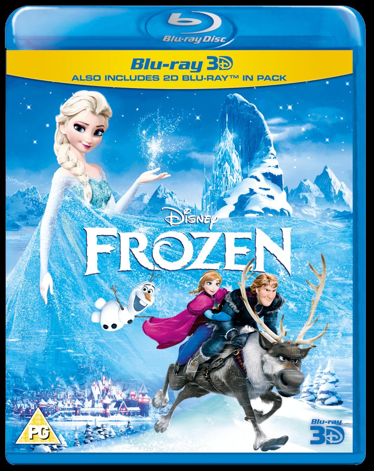 Disney 3D Region Free Blu-ray Movies: Frozen, Big Hero 6
