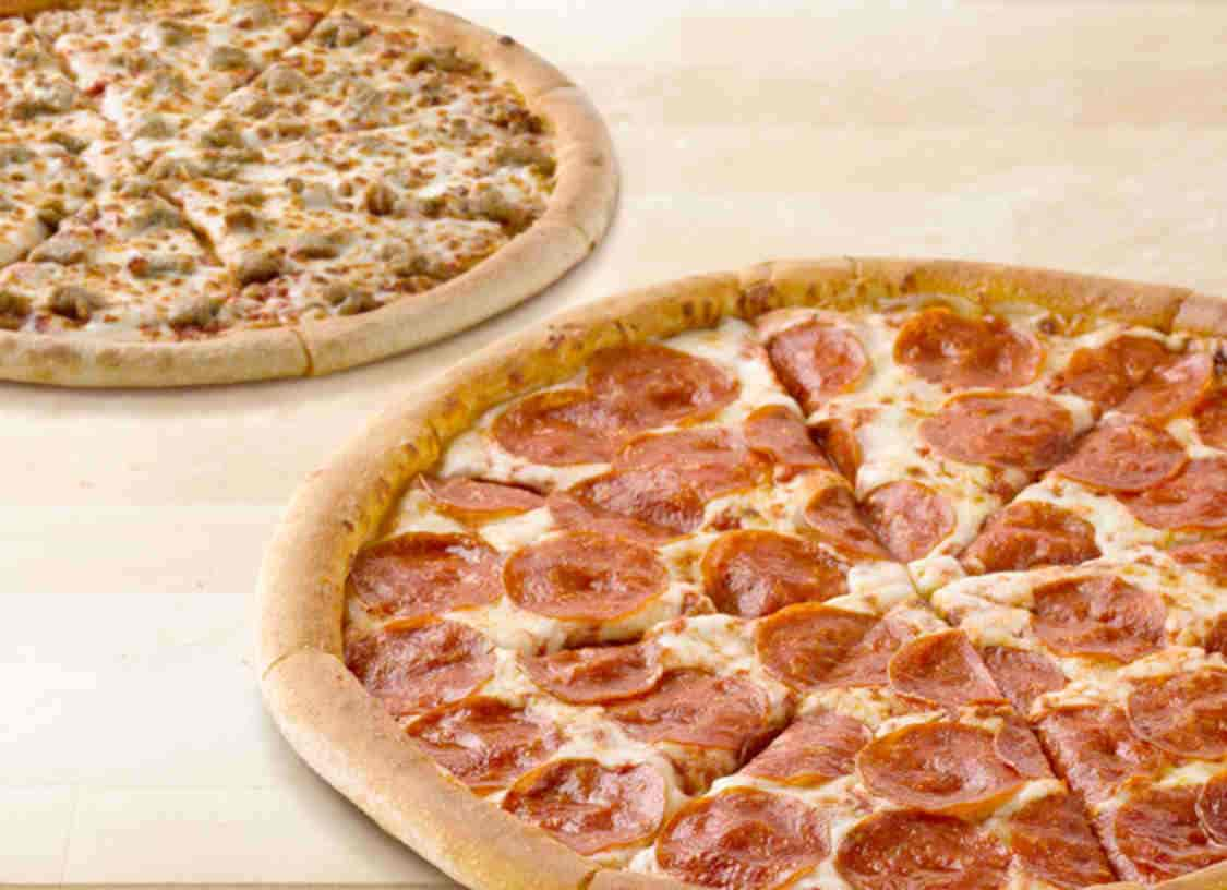 Papa John S Medium Or Large Pizza At Regular Menu Price