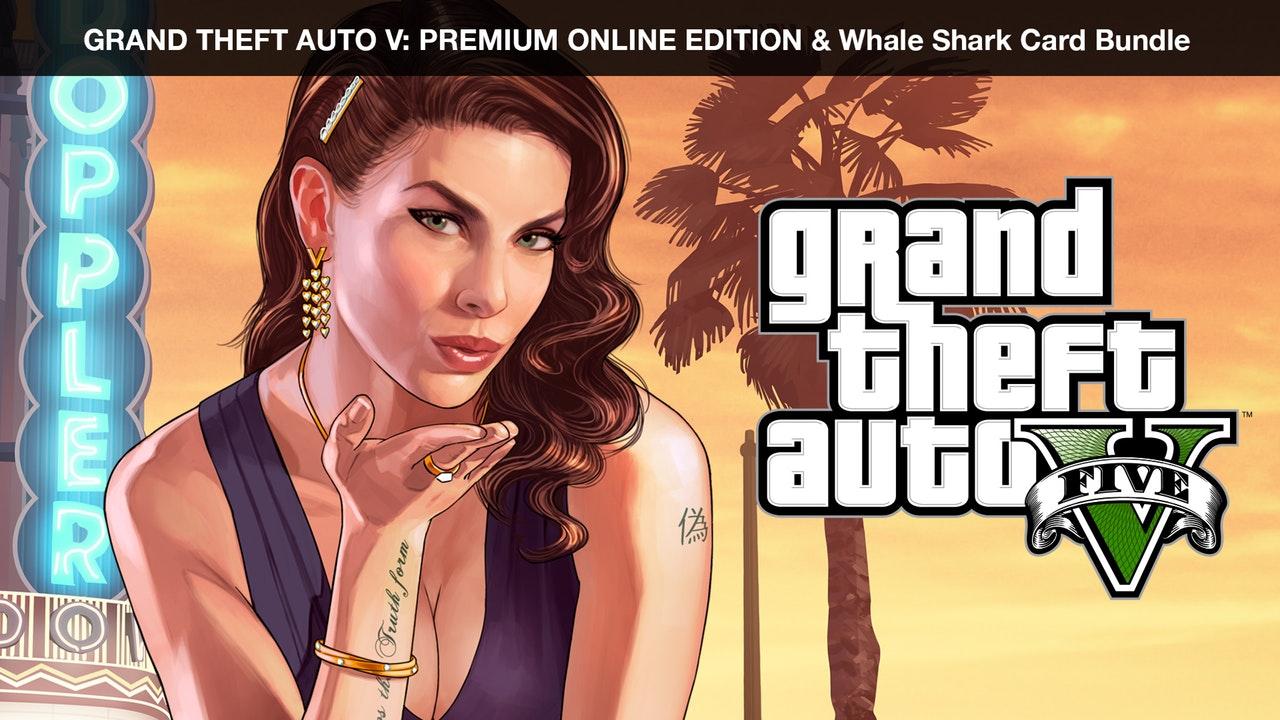 Grand Theft Auto V: Premium Online Edition + Whale Shark Card Bundle (PC Digital Download) $9.99