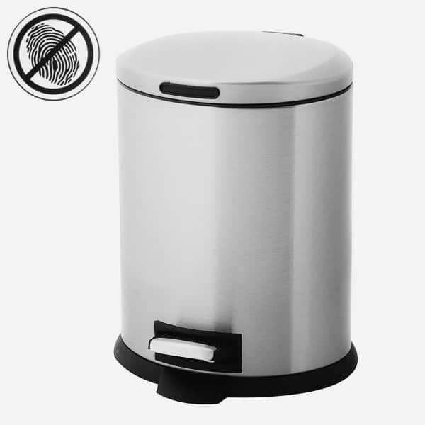 5-Liter Home Zone Stainless Steel Step Trashcan & Removable Bin $8 + Free Shipping