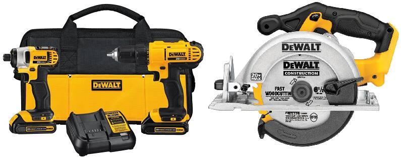 DEWALT 2-Tool 20-Volt Max Power Tool Combo Kit with free Circular Saw $199