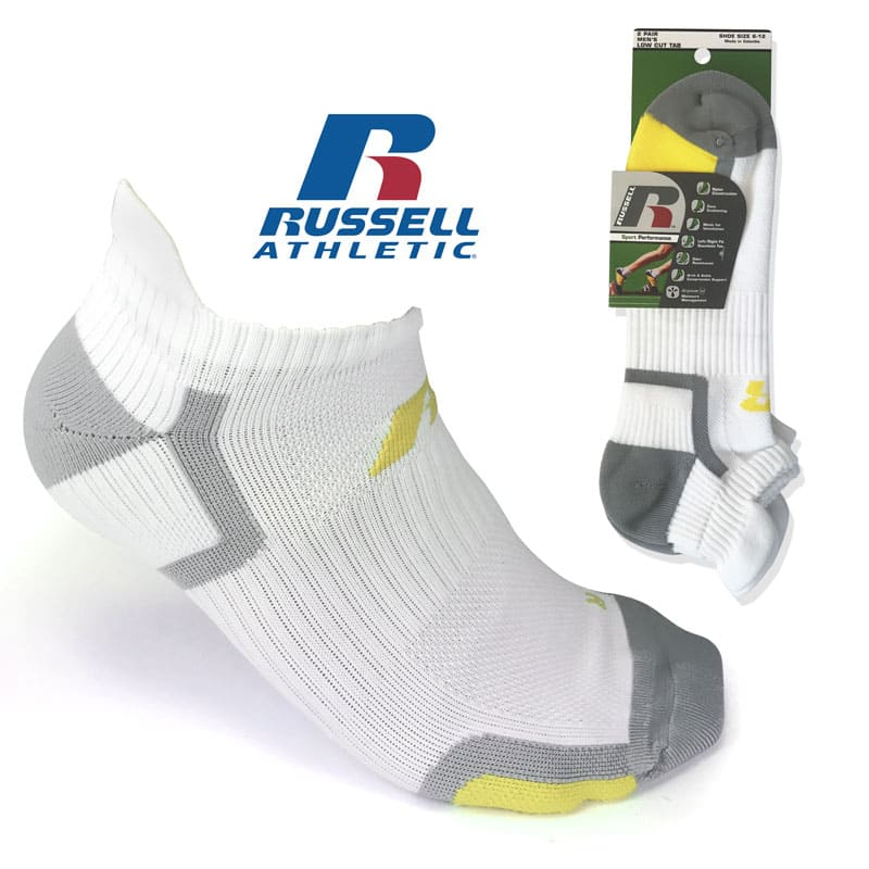 4-Pairs Men's Russell Sport Performance Socks (Ankle or Low Cut) $4.49 + Free Shipping