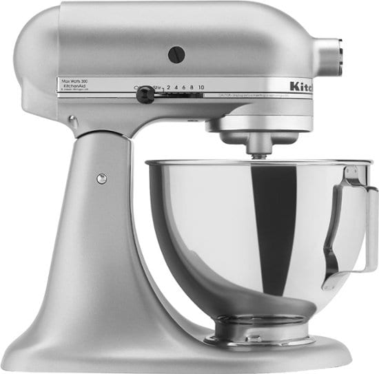 KitchenAid KSM75WH Classic Tilt-Head Stand Mixer (4.5qt) $135.37