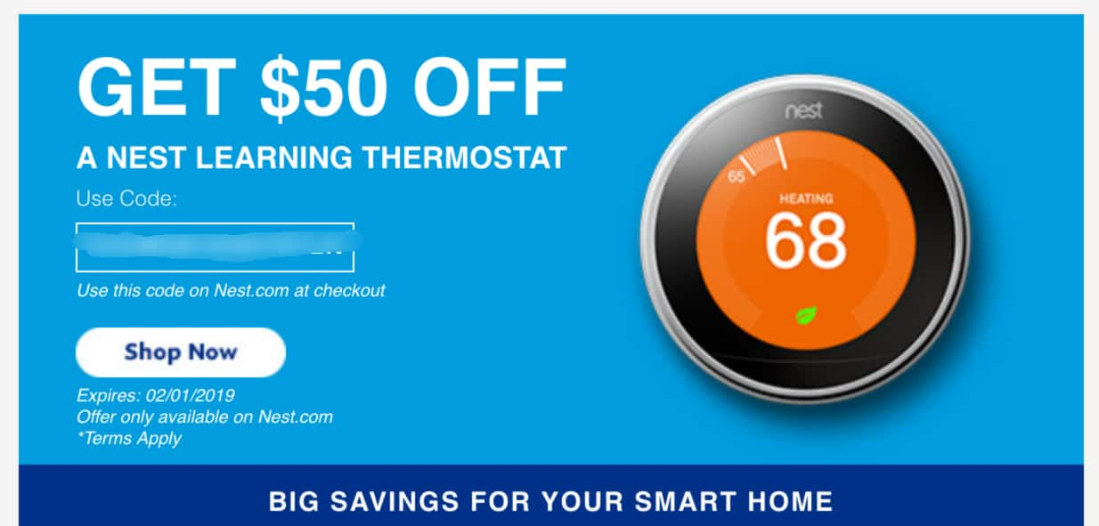 Nest Thermostat $159 after $50 Paypal Coupon & $40 AMEX Offer - YMMV
