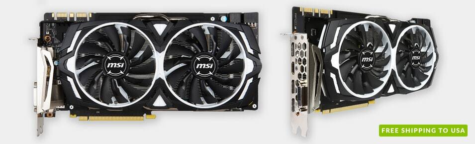 MSI Geforce GTX 1080 Armor 8G OC (489.99) $489.99