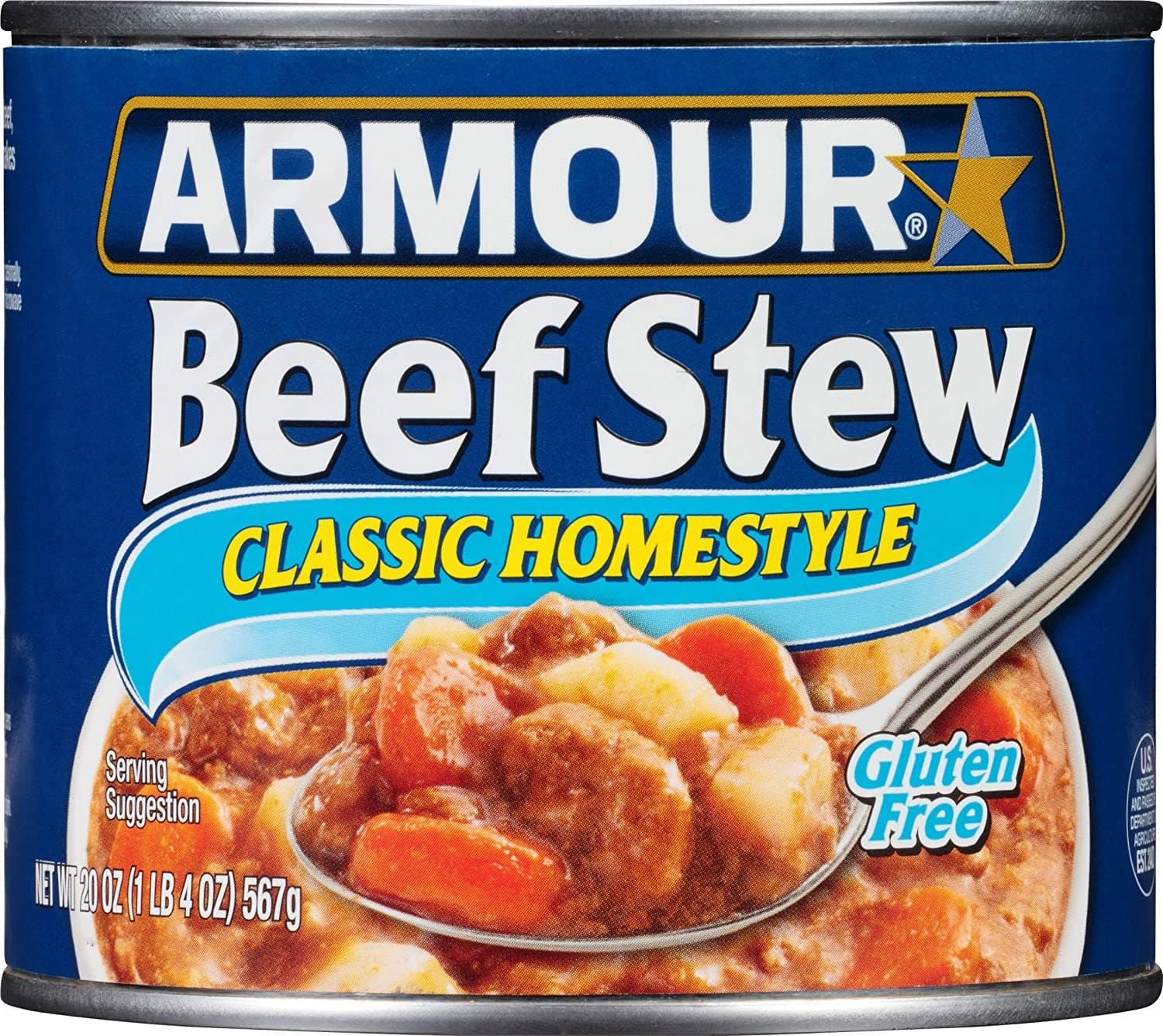 Armour Star Classic Homestyle Beef Stew, 20 oz. (Pack of 12) $17.01 w/15% S&S $19.62 w/5% S&S