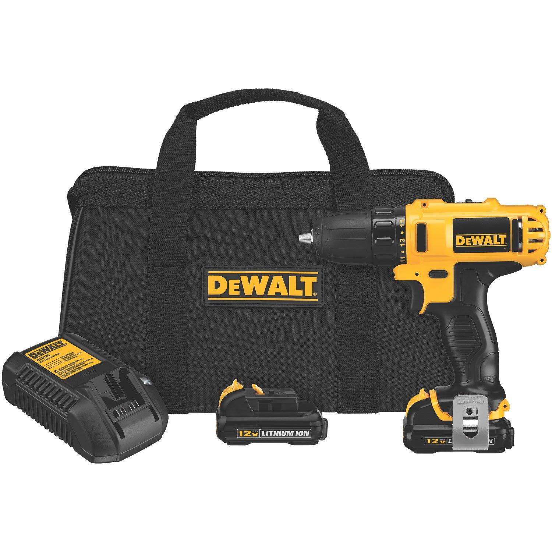 DEWALT 12-Volt Max 3/8-Inch Drill Driver Kit YMMV $69