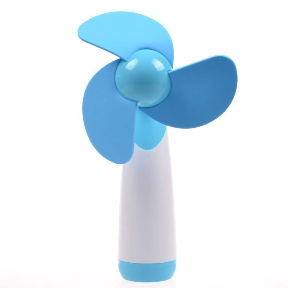 Niceshop® Handheld Mini Candy Color AA Battery Operated Sponge Cooling Fan -- $7.99 AC + Free Prime Shipping
