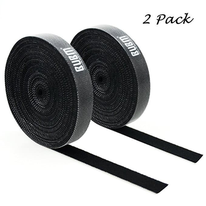 Reusable Fastening Tape - 20feet Cable Ties - Wire Organizer - Travel USB Cable Straps - DIY Length by Security -- $7.50 AC + FREE Prime Shipping