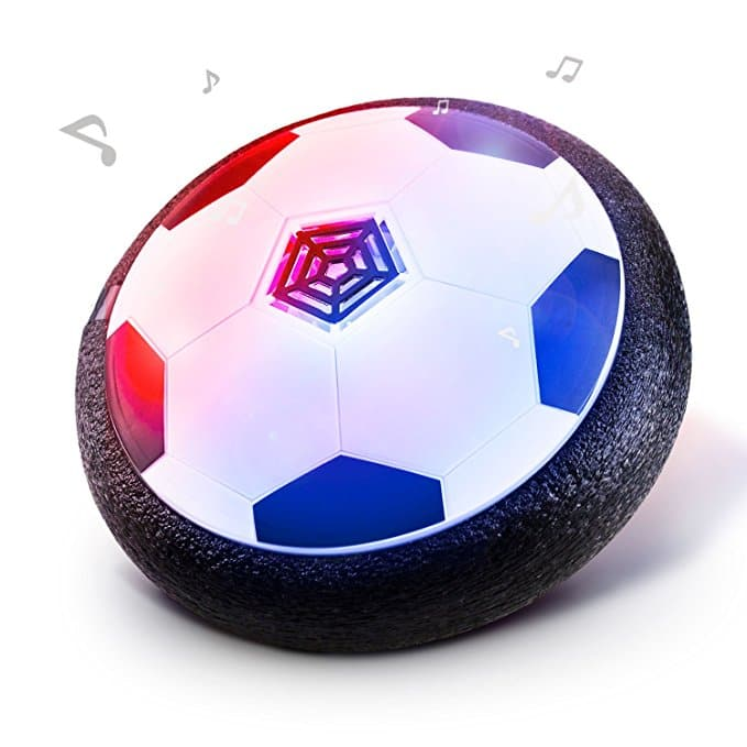 Jhua Kids Hover Ball Toys Air Power Soccer Disk Ball Hover Football Soccer Toys for Kids with Foam Bumpers LED Lights for Children Indoor Outdoor Play -- $5.99 AC + FREE Prime Ship