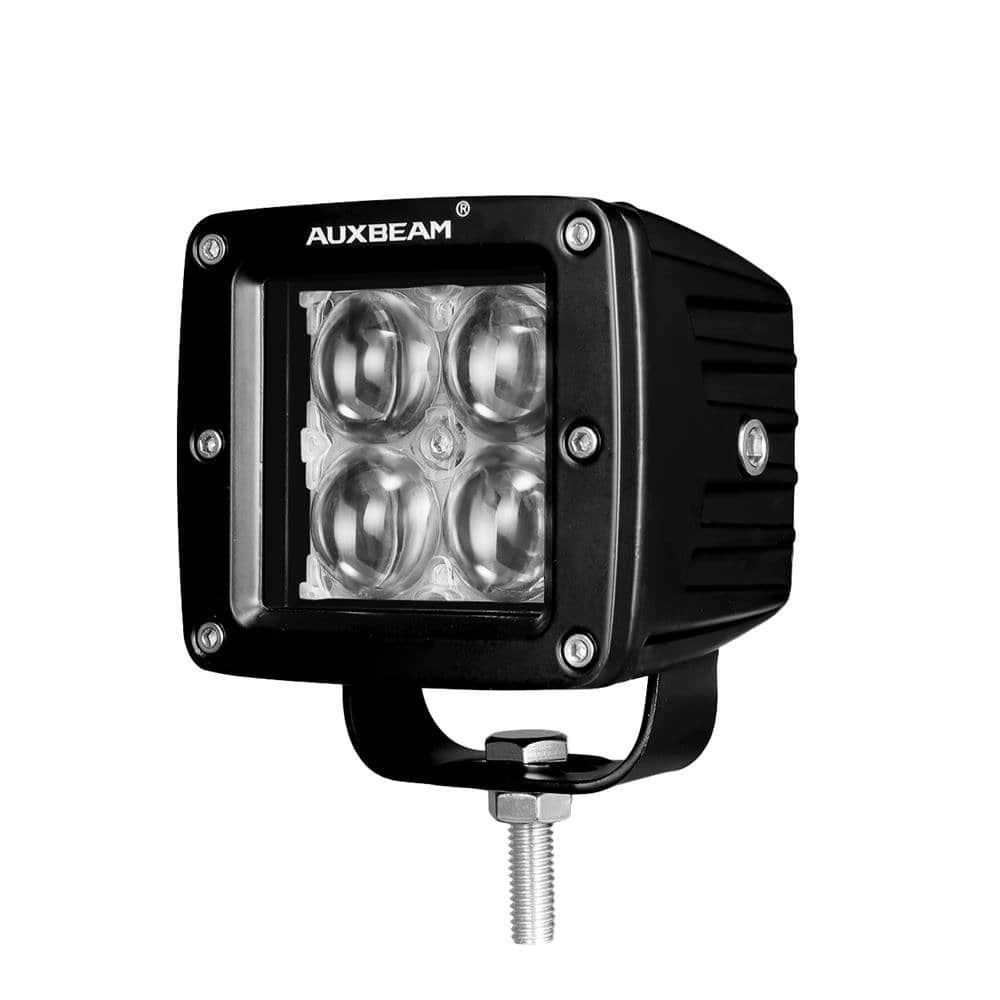 Auxbeam 3 Inch LED Light Bar 20w PHILIPS LED Pods Fog Lights Square Cube Lights Spot Beam Driving Light for Offroad Truck 4WD SUV ATV UTV (4D Projector Hyperspot) -- $15.29AC
