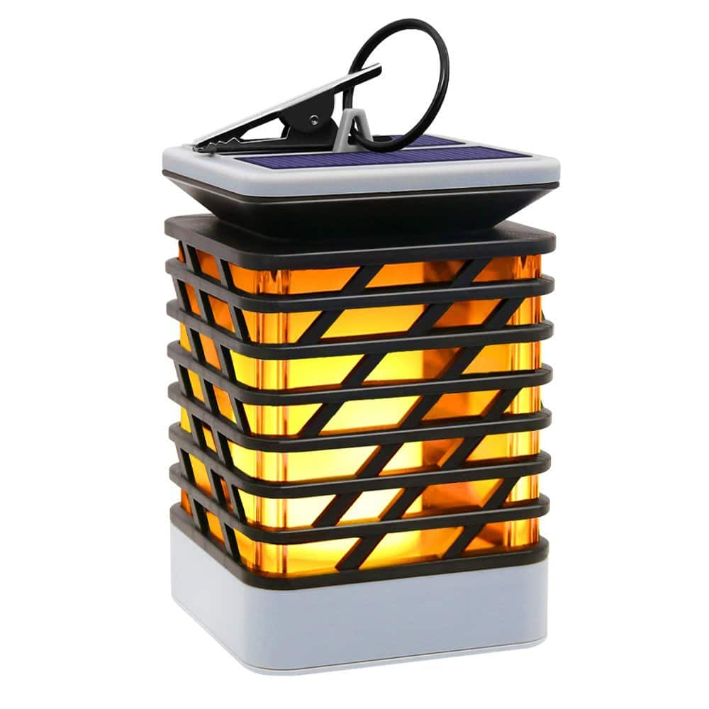 Solar Outdoor Lights Hanging, Solar Lanterns Waterproof IP55 with Dancing Flame Effect 75LED for Garden Patio Umbrella Lamp Tree Pool Pavilion Lawn Porch Decor-- $13.29AC