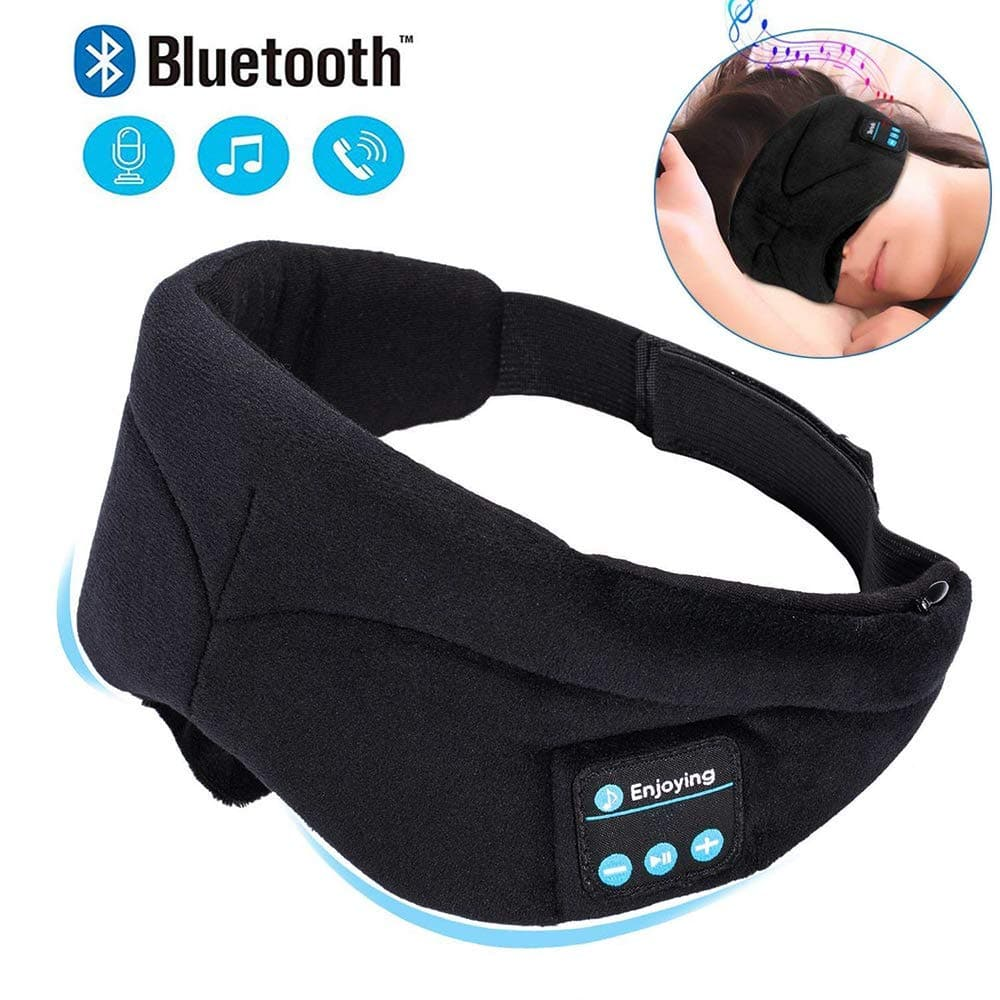 f8b030cbc8f Bluetooth Sleeping Eye Mask Headphones Travel Headphone