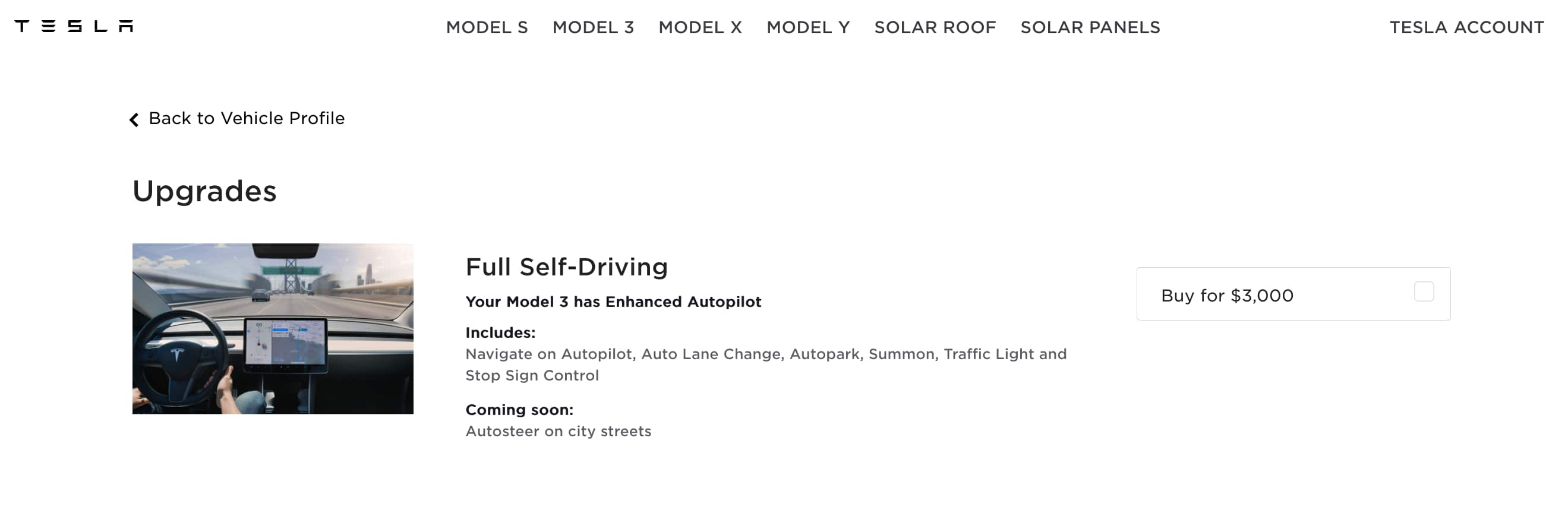 Tesla Full Self Driving Discounted $4k -> $3k until July 1st for EAP owners
