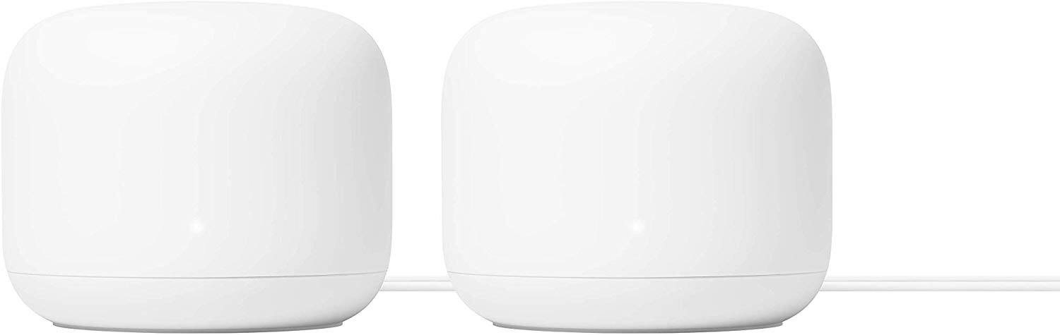 Google Nest WiFi Router 2 Pack – 4x4 AC2200 Mesh Wi-Fi Routers with 4400 sq ft Coverage $239