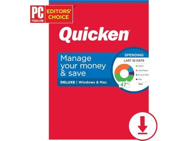 Quicken Deluxe 20.99$, Premier $31.99, Quicken Home & Business $41.99 @ Newegg