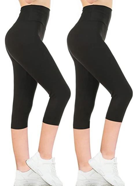 2 Packs Gnpolo Womens Black High Waisted Leggings $11.99