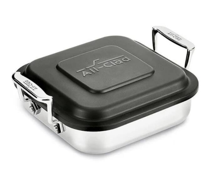 Price Mistake:  All Clad - Square Baker With Lid - Stainless Steel, 8-In. $9.99