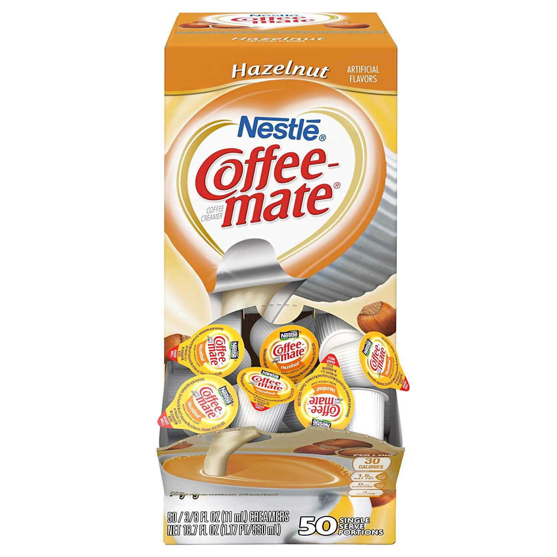 NESTLE COFFEE-MATE Coffee Creamer, Hazelnut, liquid creamer singles, Pack of 200 [Hazelnut] $14.86