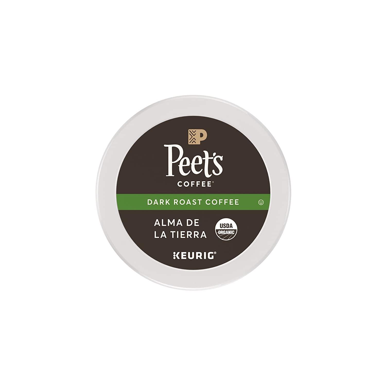 Peet's K-Cup Organic Alma De La Tierra Dark Roast 0.30/cup Amazon $4.83