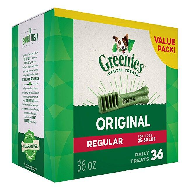 GREENIES Original Regular Size Dog Dental Chews - 36 count $20.90