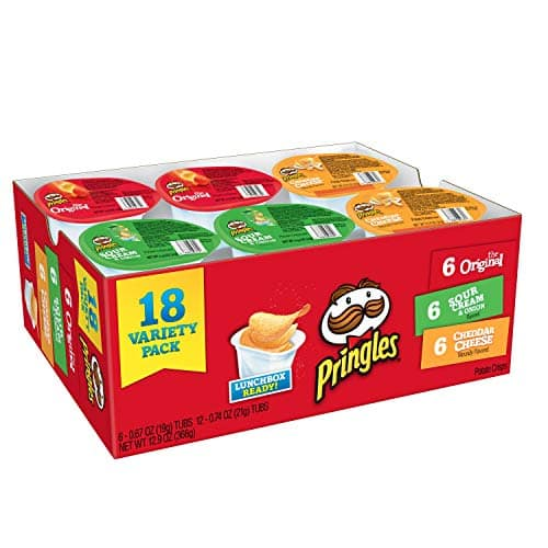 Pringles Snack Stacks Potato Crisps Chips, Flavored Variety Pack,  (18 Cups) via S&S $5.51