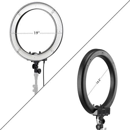 "Photo/Video 19"" AC Powered 55W 5500K Dimmable LED Ring Light With Bag $87.95"