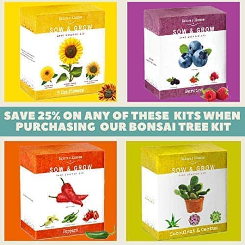 A Complete Gardening Set Organic Seeds, Soil, Planting Pots, Plant Labels & Growing Guide. Unique Gift $13.95