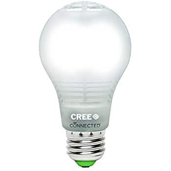 Smart Bulb - Cree BA19-08050OMF-12CE26-1C100 Connected 60W Equivalent Daylight (5000K) A19 Dimmable LED Light Bulb - $12