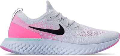 new concept 4c588 e1cb0 Men s Nike Epic React Flyknit Running Shoes (Pure Platinum Black ...