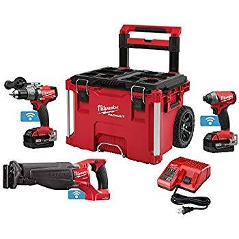 Milwaukee 2796-22PO M18 FUEL ONEKEY 2 Piece Combo Kit with FREE Sawzall and PACKOUT Rolling Case (YMMV) - Home Depot $250