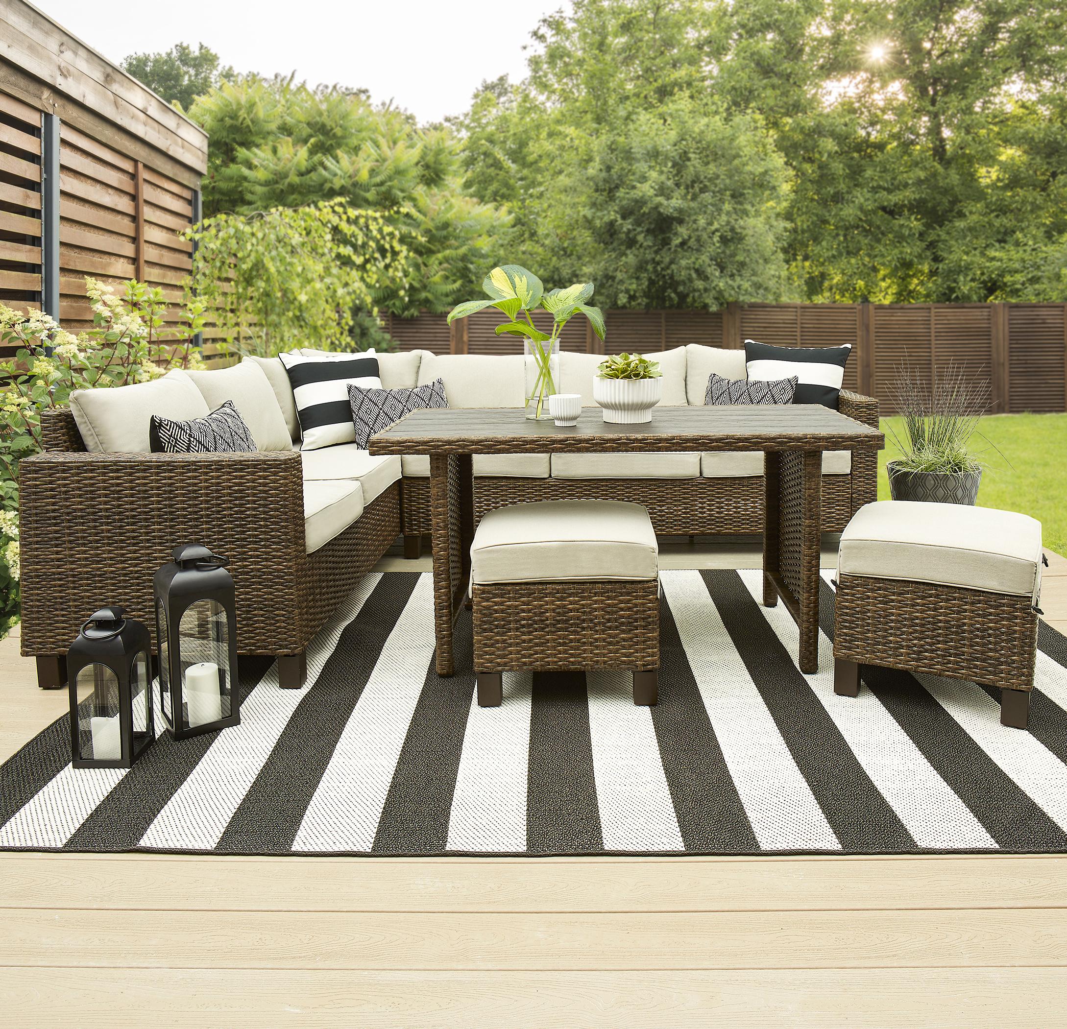 Walmart Better Homes and Garden 5 piece Wicker Outdoor Dining Set $355 YMMV