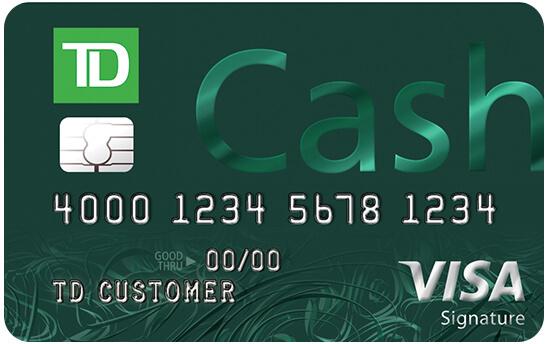 TD Cash Credit Card: Offers $200 cash back after spending $500 in first 90 days