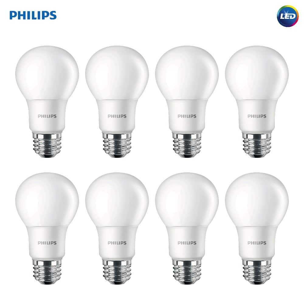 Philips 100W Equivalent Daylight A19 LED Light Bulb, 8-Pack $21.03