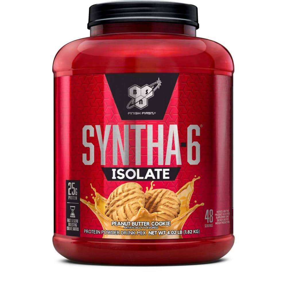4 lb BSN Syntha 6 ISO, Peanut Butter Cookie 48 servings for $31.33