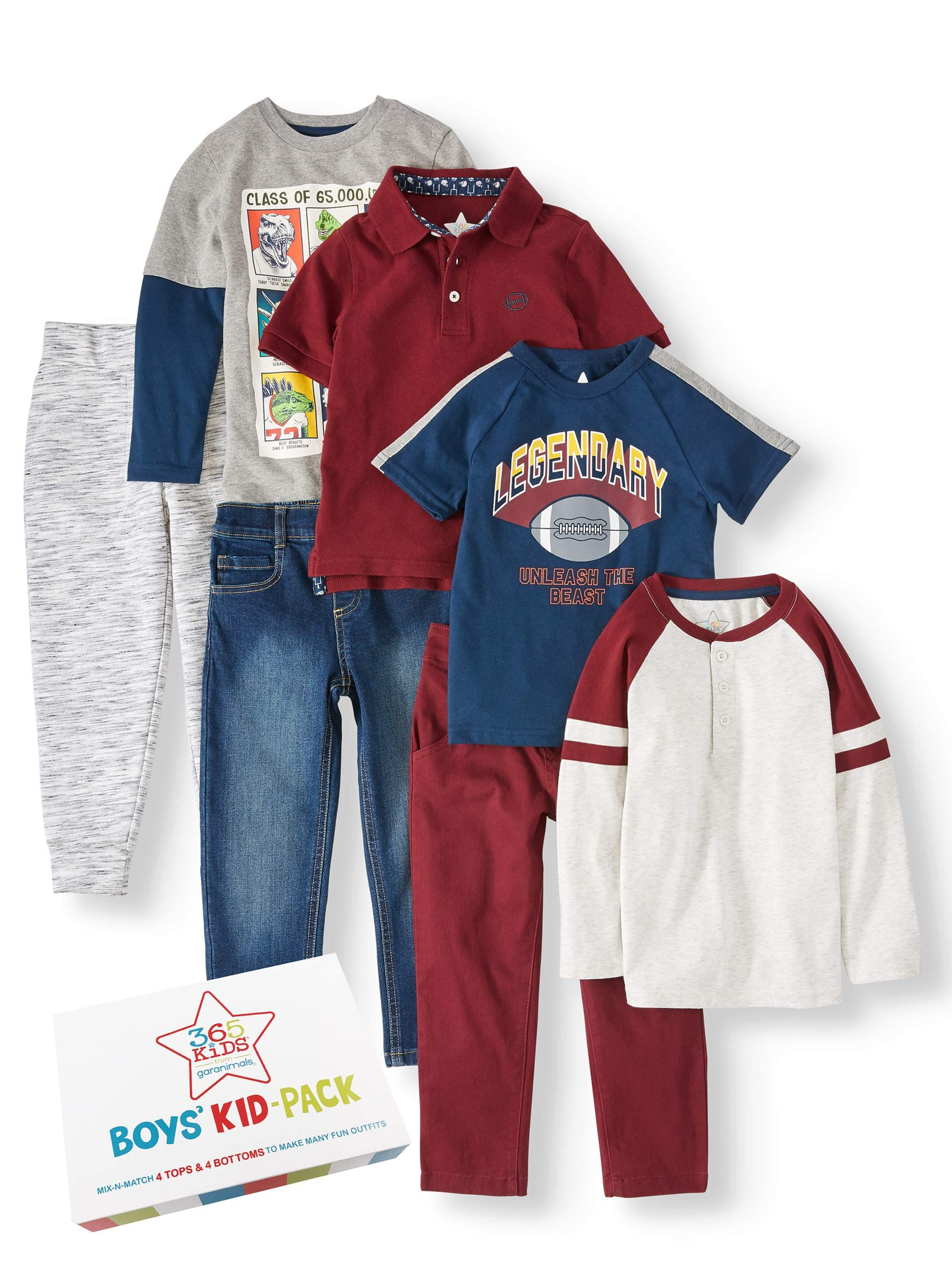365 Kids from Garanimals Boys 4-10 Kid 7 Piece Outfit set for $26.5