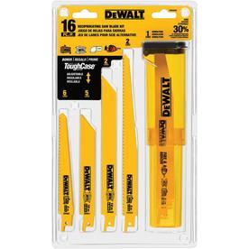 DEWALT 16-Pack Set Wood/Metal Cutting Reciprocating Saw Blade Set $19.98