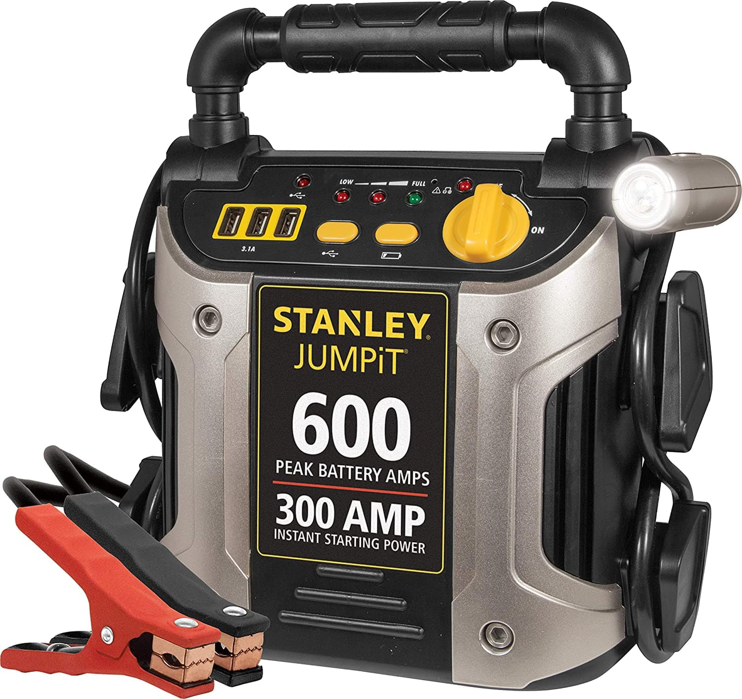 STANLEY J309 Power Station Jump Starter: 600 Peak/300 Instant Amps with Battery Clamps $39