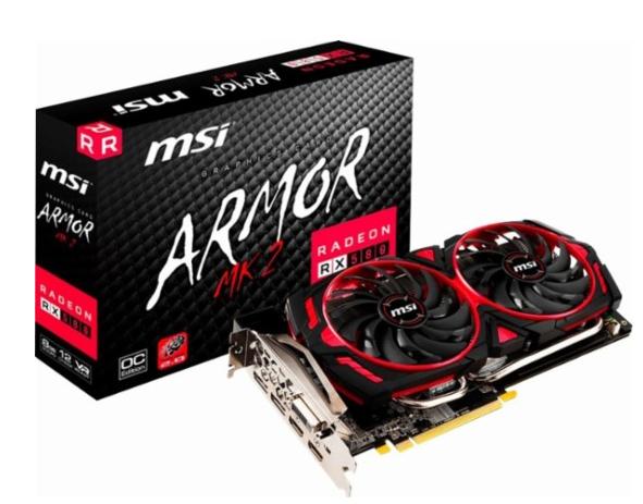 MSI MK2 8G OC AMD Radeon RX 580 - $230 + tax (AR)