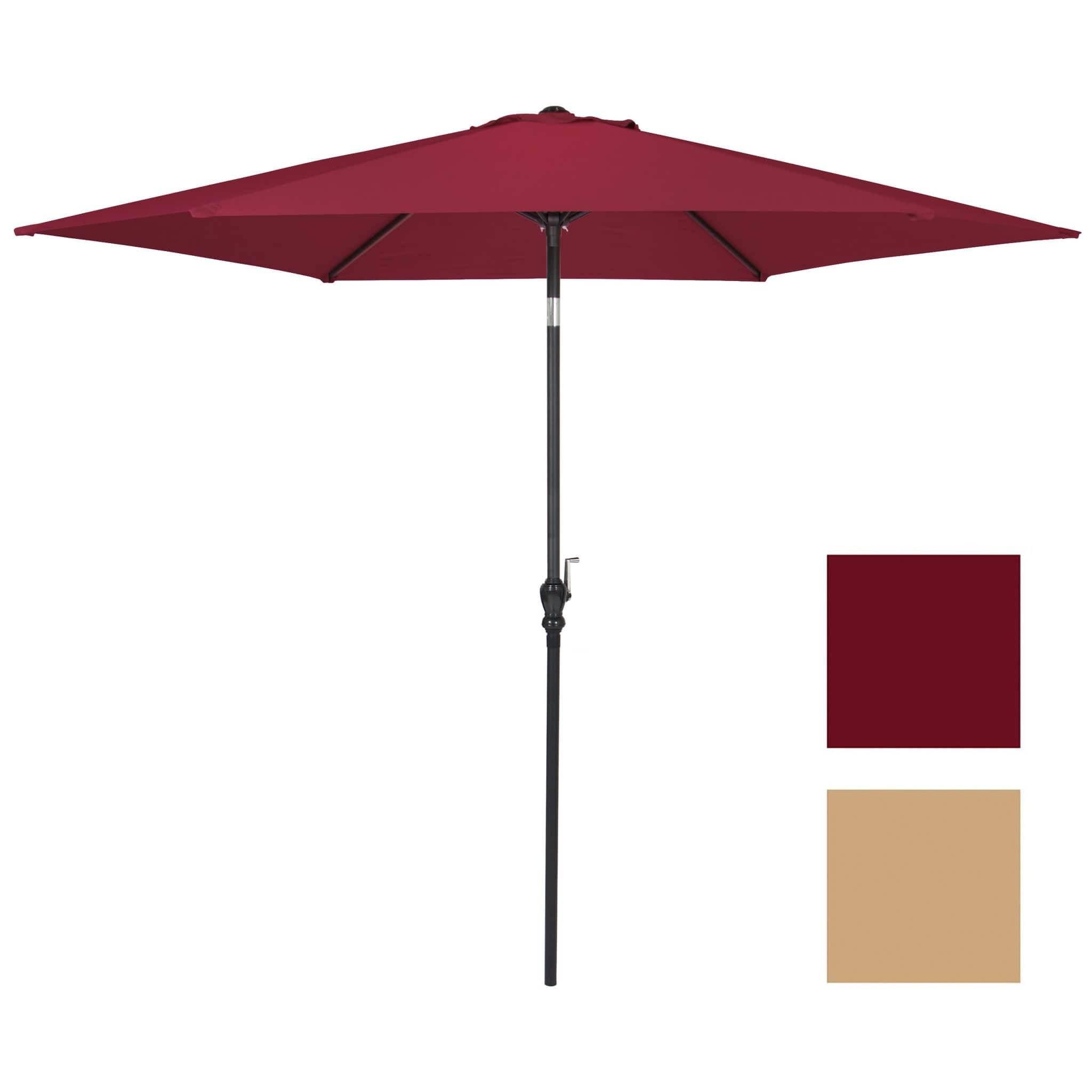 Summer Clearance 10 Ft Steel Market Outdoor Patio Umbrella